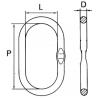 Maille de tête simple avec méplat GRADE 80 - schéma