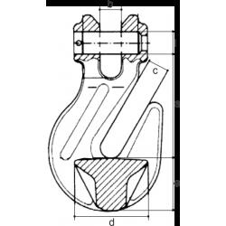 Crochet raccourcisseur à chape - schéma
