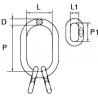 Maille de tête triple avec méplat - schéma