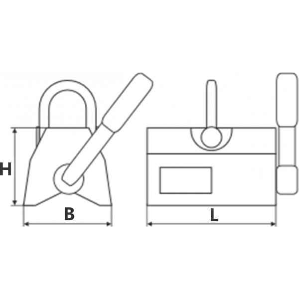 Crochet simple à chape