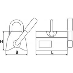 Aimant permanent de levage pour matériaux ronds - schéma