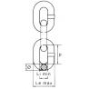 Chaîne de levage - Grade 120 - schéma