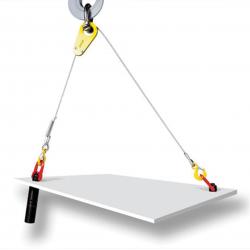 Tête d'équilibrage pour élingues câble