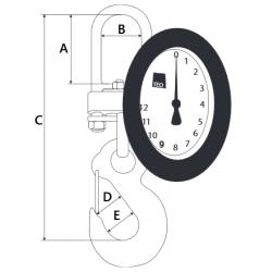Dynamomètre mécanique - schéma