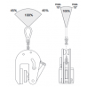 Pince de levage vertical anti-marquage - angle