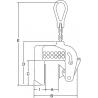 Pince de levage vertical anti-marquage réglable - schema