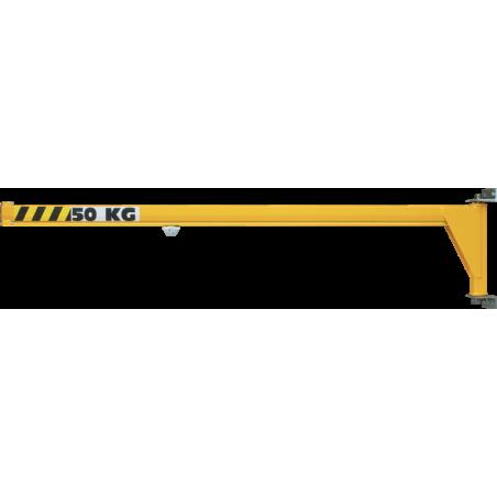 Potence murale inversée à profil creux