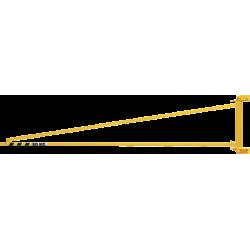 Potence murale triangulée type porte-outil