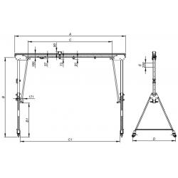 Portique de chantier en aluminium - schema