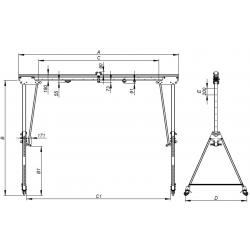 Portique d'atelier aluminium - schema