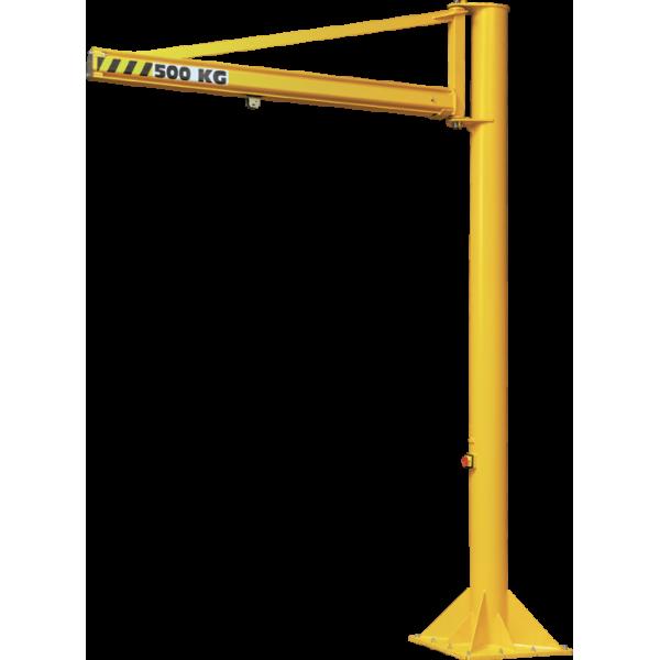 Potence sur fût triangulée à profil creux