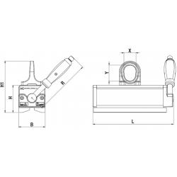 Aimant permanent pour tôles fines (3-15 mm) - schéma