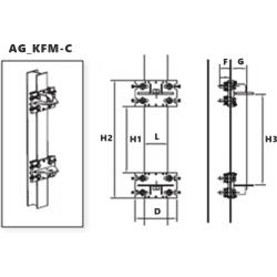 Kit de fixation à clamer sur IPE, HEA ou HEB