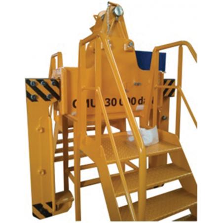 Support de pince avec escalier - Pince à bobine